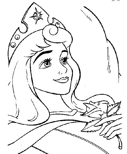 printable sleeping beauty coloring pages - photo#34