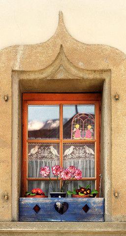 Swiss Windowbox- Gruyeres, Switzerland