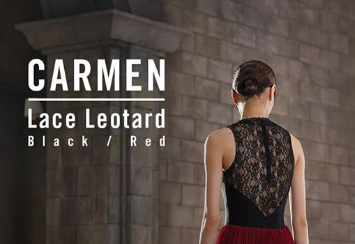 """카르멘하면 정열적인 빨강색과 레이스가 생각나죠? 루스플라이 """"카르멘 레이스 레오타드""""를 만나보세요.  When you're thinking of Carmen, do you ever  think of passionate red and lace? Meet our """"Carmen lace leotard""""."""