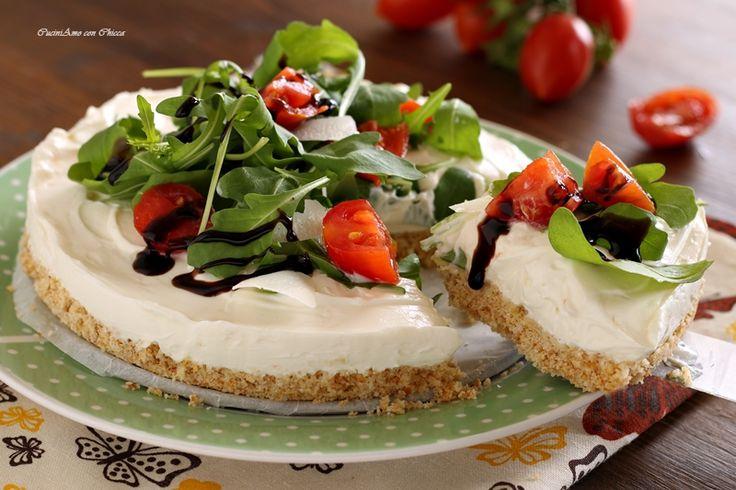 Cheesecake salato senza cottura