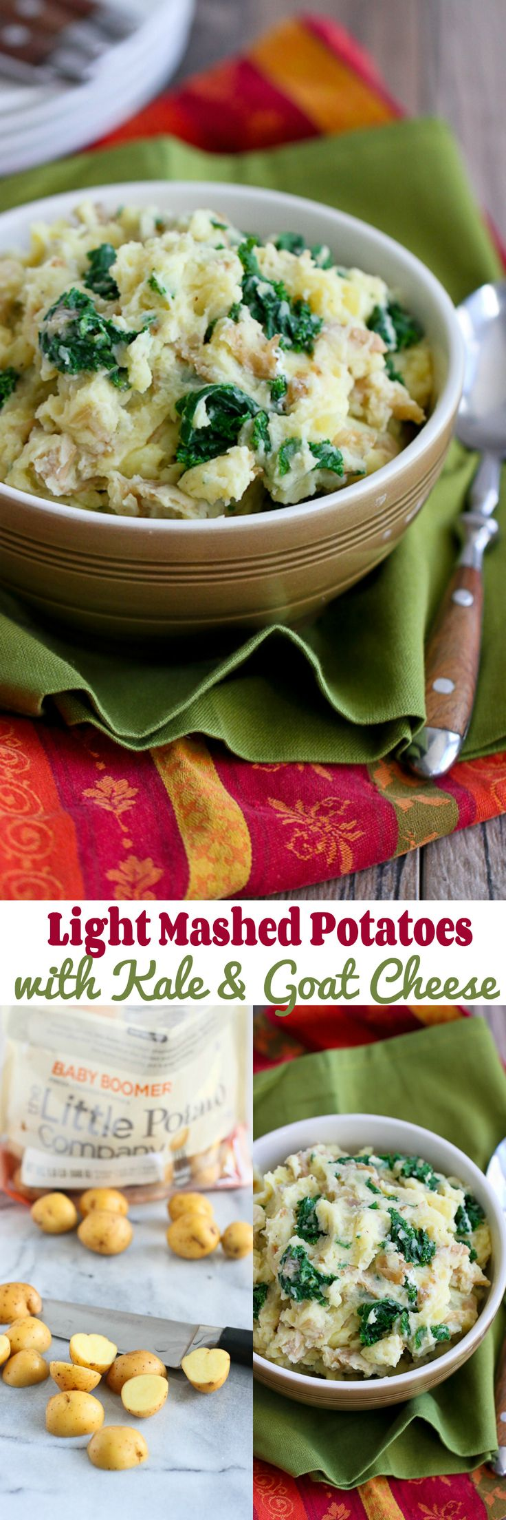 Light Mashed Potatoes with Kale and Goat Cheese…The perfect side ...