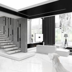 Corredores, halls e escadas modernos por ARTDESIGN architektura wnętrz