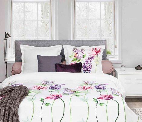 HNL Living Olena satijn overtrek, wit,rose,pink,paars,groen