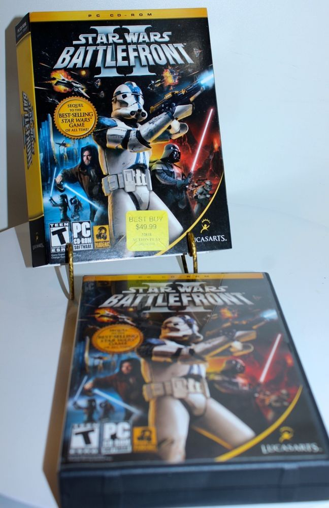 Star Wars Battlefront 2 PC CD-ROM 4 Discs in Excellent Condition