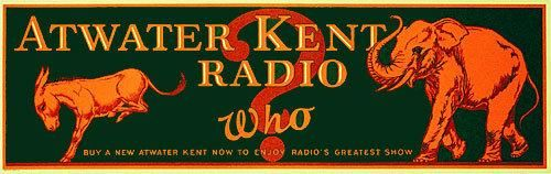 1920's Atwater Kent Radio Advertising Vintage Political Poster Sign – Vintage Poster Works: Debra Clifford