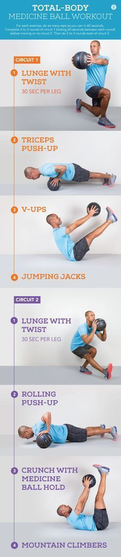Have the balls to try something new? Ditch machines for medicine balls to work your entire... #workout #totalbody #exercises http://greatist.com/fitness/25-must-try-medicine-ball-exercises