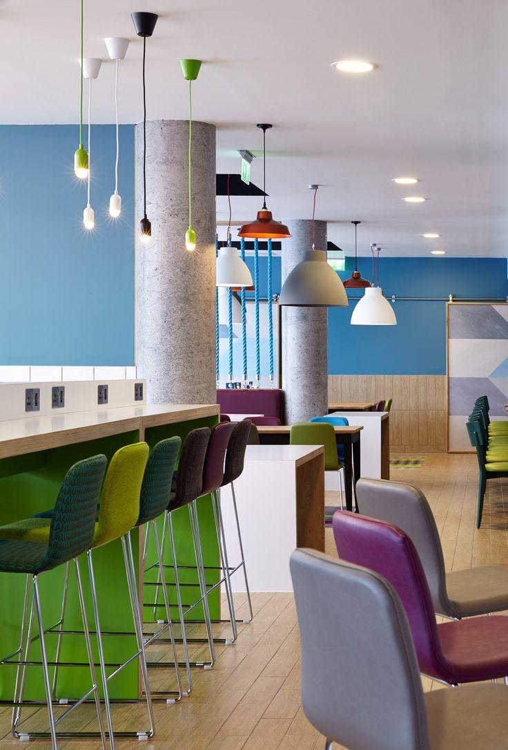 Holiday Inn Express Aberdeen | Public Areas Design | Chevron Wall Pattern |  Pop Colours |