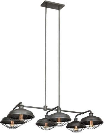 Murray Feiss Island Pendant Chandelier From The Industrial Revolution  Lennex Collection   Rustic Pool Table U0026 Island Lights   Brand Lighting  Discount ...