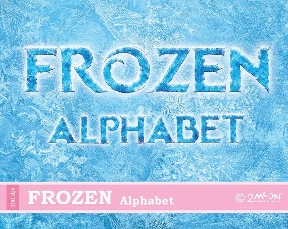 World Of Dance Font: 124 Frozen Alphabet PNG 2 FONTs 300 DPI By 2moon On Etsy