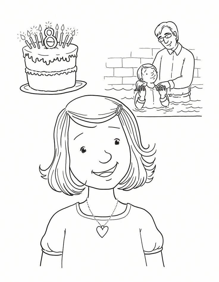Baptism Coloring Page Lds   Coloring Pages