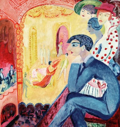 huariqueje: The Theatre - Sigrid Hjerten Swedish 1885-1948