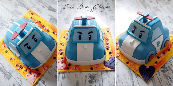 Poly robocar - Cake by Kalina