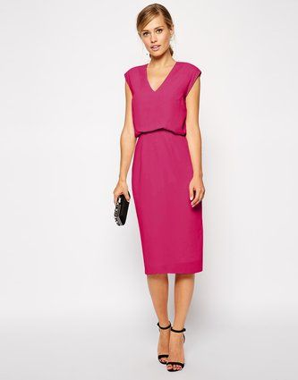 Fall Wedding Guest Dresses: 20 Ideas That Will Make You Look Even More Beautiful - Pencil Dress, ASOS
