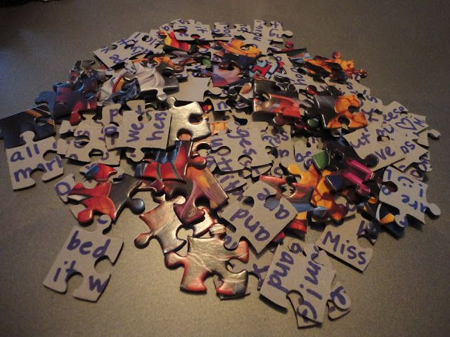 Pen Pal Puzzle Letter. This is a great idea! Put the puzzle together...write the message...take it apart...mail in sturdy envelope. Small inexpensive Christmas scene puzzles would make great holiday greetings!