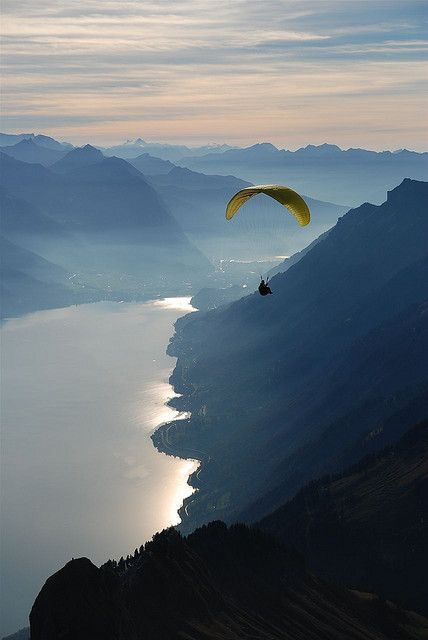 Lake Brienz, Canton Of Berne, Switzerland: Flying, Lakes Brienz, Adventure, Epic Moments, Buckets Lists, Beautiful Places, Canton Of Bern, Swiss Alps, Photo