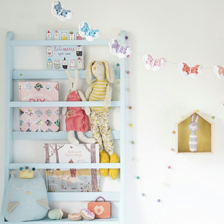 I transformed my boys' room info a pastel kingdom to take some nice photos of my new crochet butterfly garland