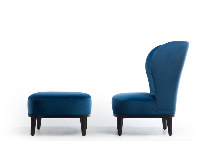 Potocco | SPRING Lounge Armchair & Pouf