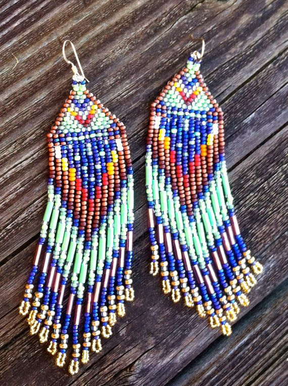 Beaded Sky Native American Inspired Earrings by MauiWings on Etsy