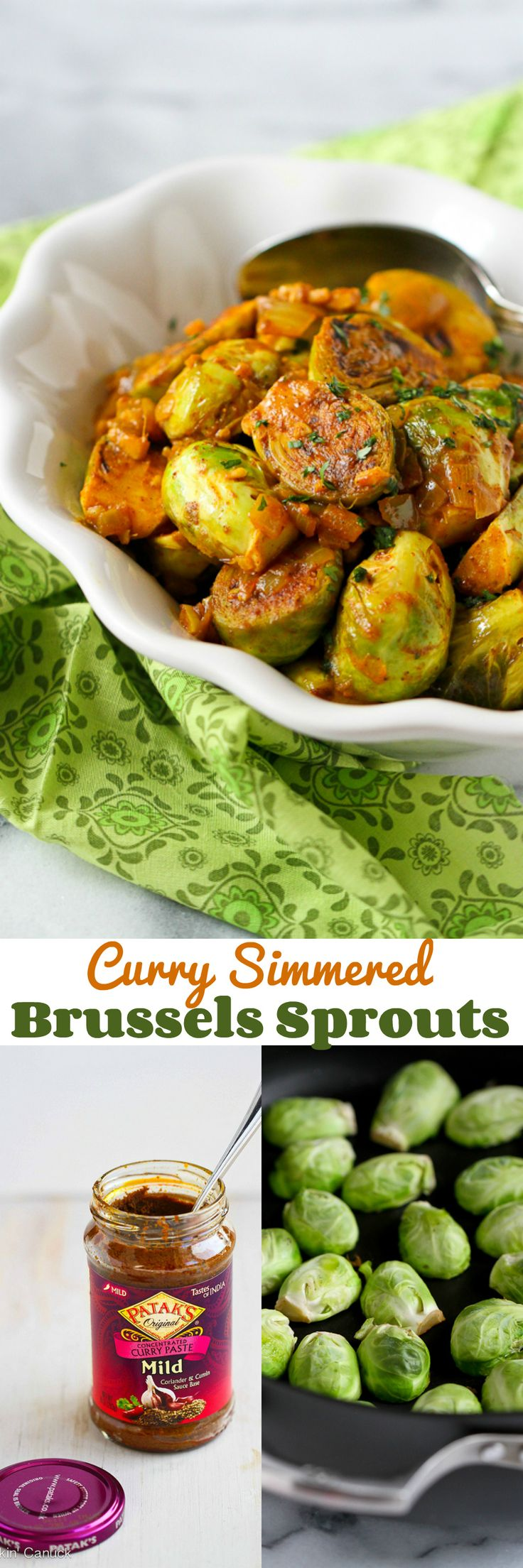 Curry Simmered Brussels Sprouts…An easy way to infuse a ton of flavor into this side dish recipe.  146 calories and 4 Weight Watchers PP   cookincanuck.com #vegan