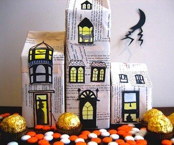 milk carton haunted house i need to do this next halloween - Halloween Cartons