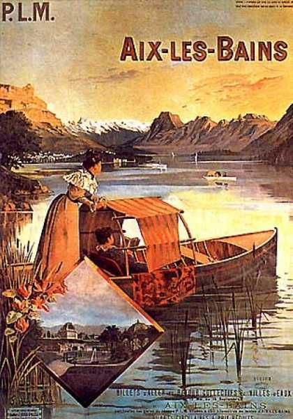 Aix-les-Bains by Hugo d'Alesi (1905) #aixlesbains #lacbourget #lacdubourget #savoie #alpes #belleepoque #vintage #affiche #collection #station #stationthermale #thermalisme #smbt