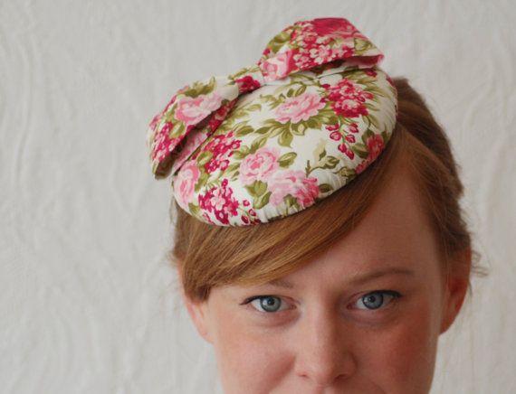floral button wedding hat / pillbox hat / fascinator by HeatherFeatherDesign, £45.00