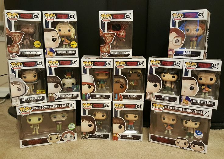 My entire collection of Stranger Things Funko Pops