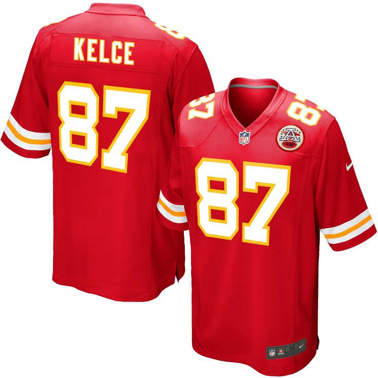 Travis Kelce Kansas City Chiefs Youth Nike Team Color Game Jersey - Red - $74.99