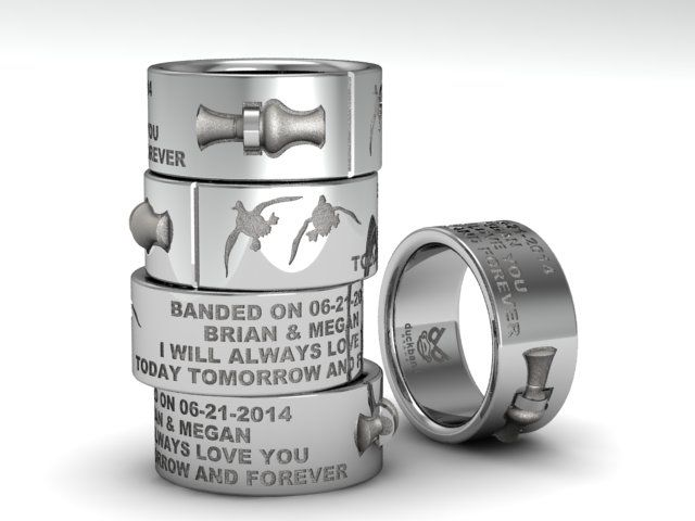 DuckBandBrands Custom Wedding Band With 3D Duck Call Have The Ring You Want