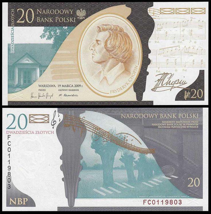Poland 20 zlotych 2009 polen pinterest Liner 4 50 x 1 20