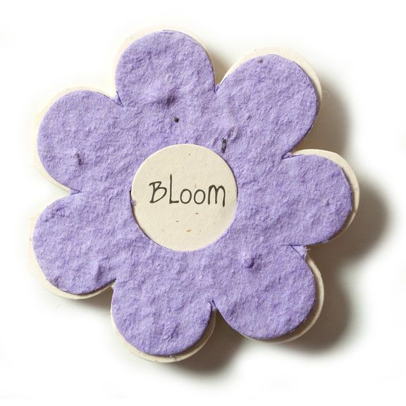 Bloomin Gift Tags-  Lavender Flower- Eco-Friendly Seed Paper Card