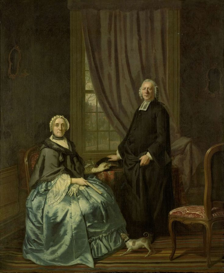 Portrait of Petrus Bliek, Remonstrant Minister in Amsterdam, with his Wife Cornelia Drost, Hendrik Pothoven, 1771