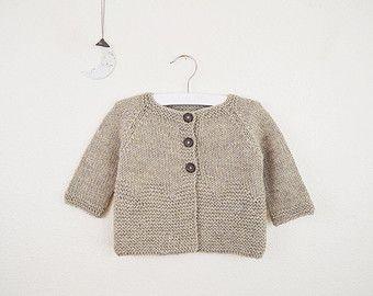 Thea Cardigan PDF Download // Baby Cardigan Sweater Knitting Pattern - Knitted…