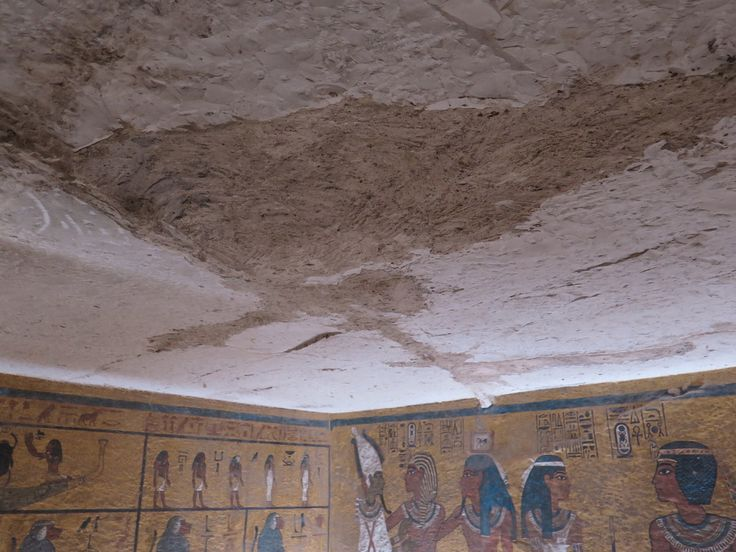 Investigation shows that tombs ceiling went beyond the North and West walls.