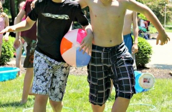 Beach Ball Relay Games   Bucket Relay Game for Kids ~ How to play water bucket relay games ...