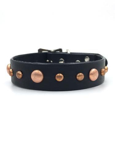Frankie leather collar