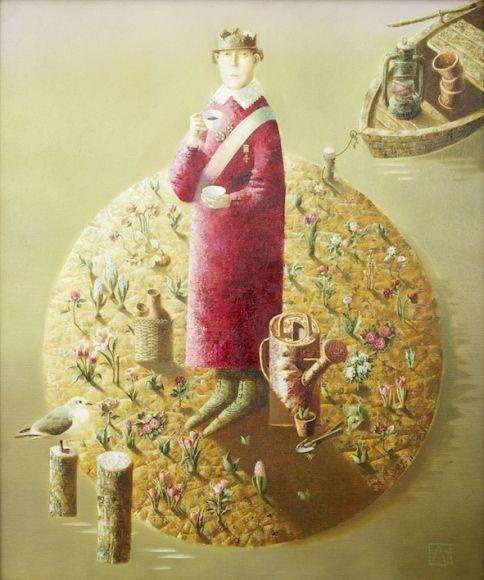 Anna Berezovskaya Five O'Clock 85 x 70cm Oil on canvas