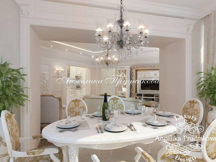 Дизайн-проект гостиной в стиле классика в ЖК Волынская Усадьба - фото