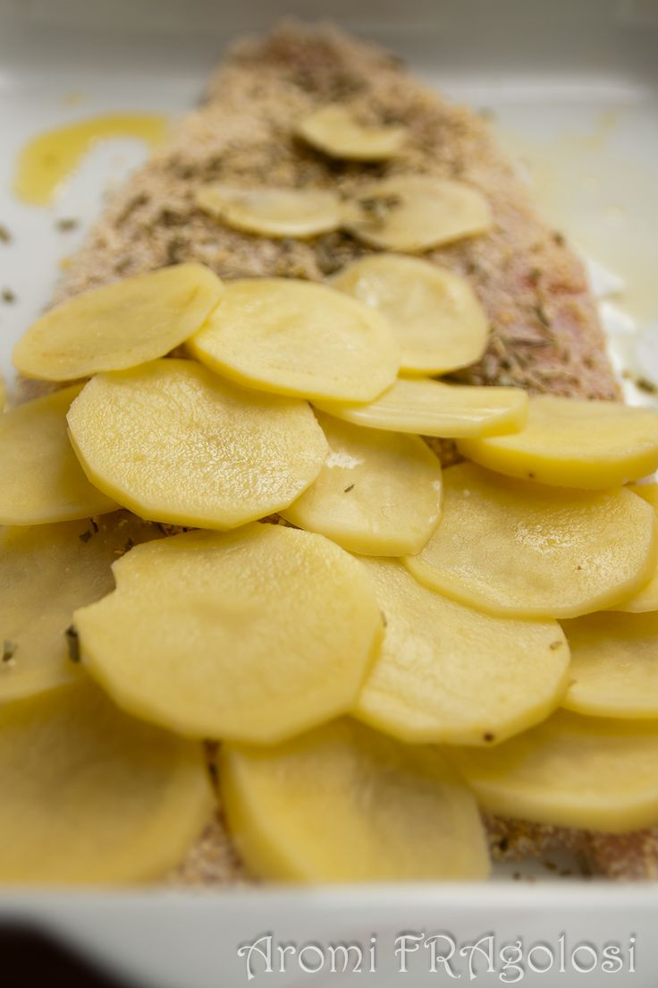 Filetto di persico in crosta di patate