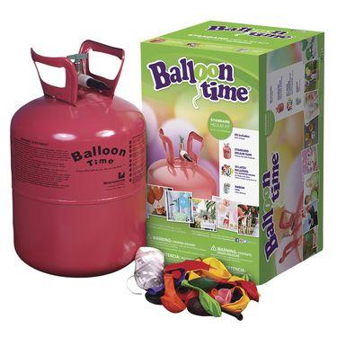 Balloon Time Standard Helium Balloon Kit Multicoloured