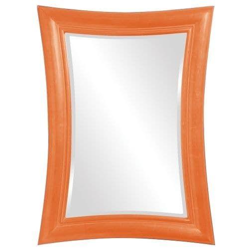 "Howard Elliott 2003O Fairmont 45"" x 34"" Glossy Orange Mirror"