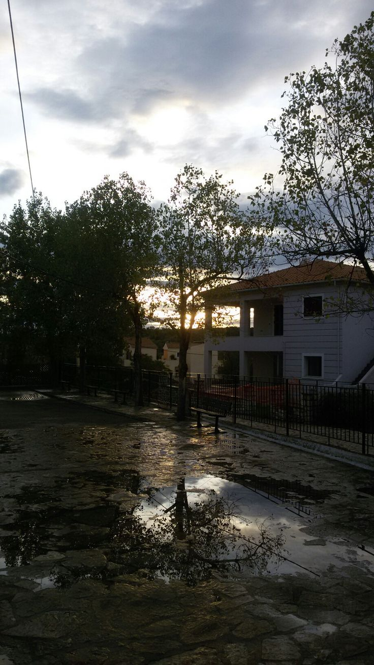 The yard outside my school -Meganissi island,Ionian Sea #greece #aprèslapluie