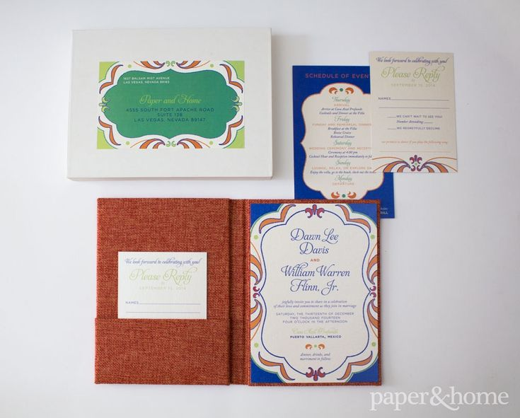 Mexican Wedding Invitations: Dawn And William