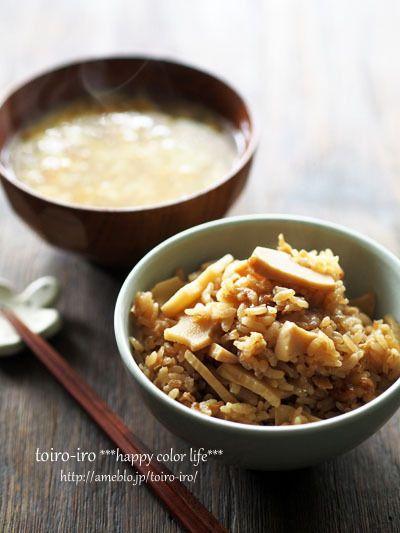 たけのこご飯と、かきたま汁 by トイロさん | レシピブログ - 料理 ...