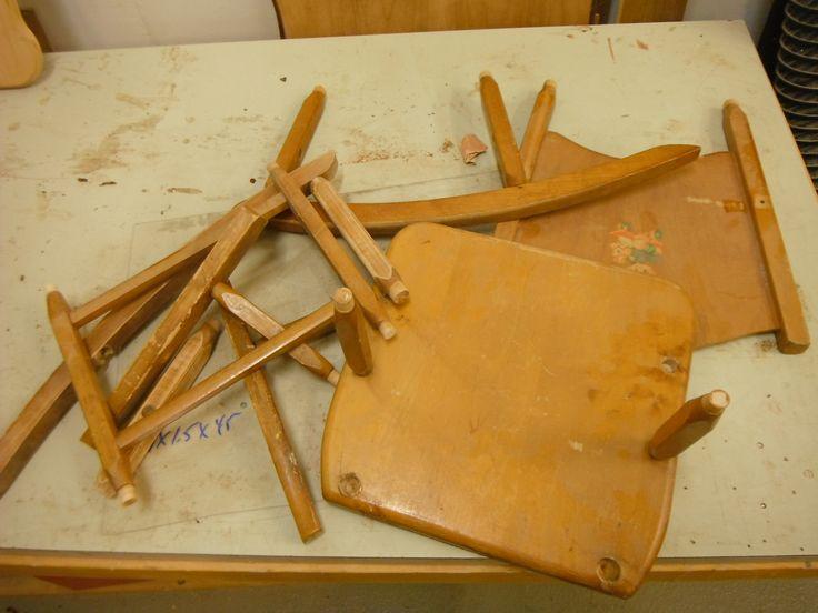 Ass found broken dismantled kids rocker.