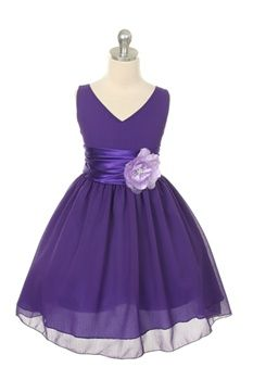 chiffon flower girl dress, purple #wedding