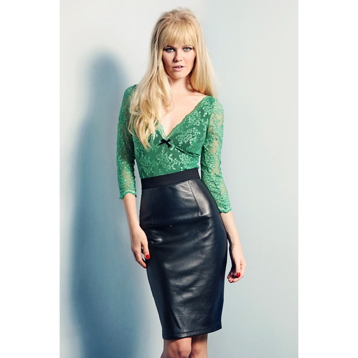 Wheels and Babydoll Scallop Lace Fifi Top
