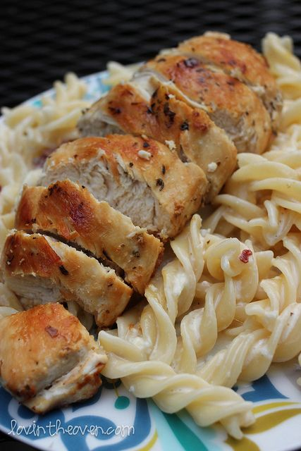 Chicken Bacon Pasta - Lovin' From The Oven - Try using fresh garlic, herbs, homemade noodles.