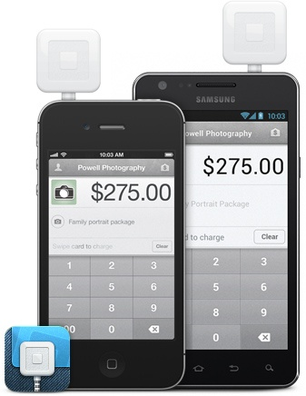 Square.  Accept credit card payments anywhere with your iPhone, Android or iPad. Download the free Square app to get started.
