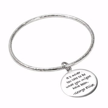 Poetic Pieces - BANGLE AND DISC - B6Sterling Silver